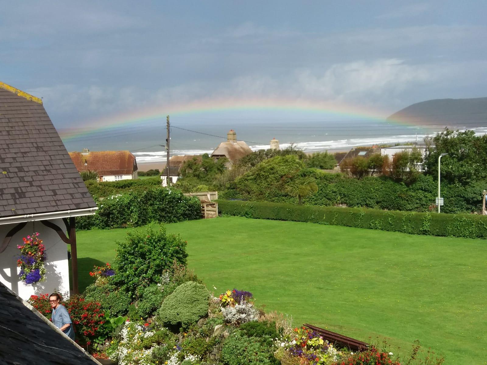 croyde breaks view rainbow